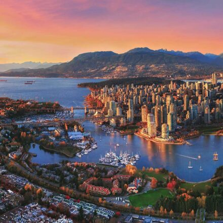 Vancouver skyline with North Shore Mountains in the background