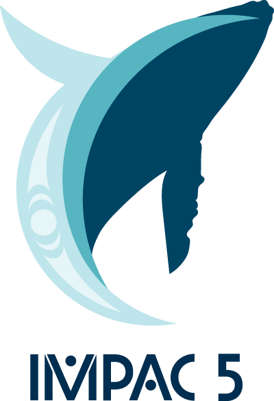 IMPAC5 Logo - a stylized Humpback whale emerging from a cresting wave.